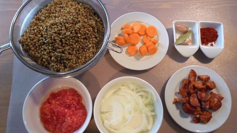 lentejas chorizo olla a presion express ingredientes